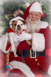 Pictures with Santa support Angels Among Us Pet Rescue.