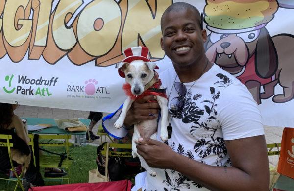 Lucy with Atlanta-based comic book artist Jarrett Williams